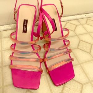 Nine West Square Toe Sandals